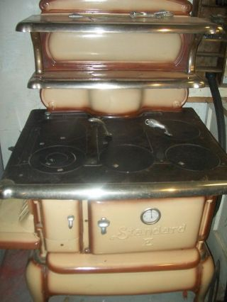 Antique Standard E Enameled Stove Complete & Near Perfect,  Absolutly photo