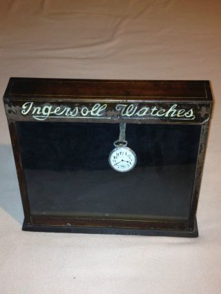 Rare 1930 ' S Vintage Ingersoll Pocket Watches,  Wrist Watches Counter Display photo