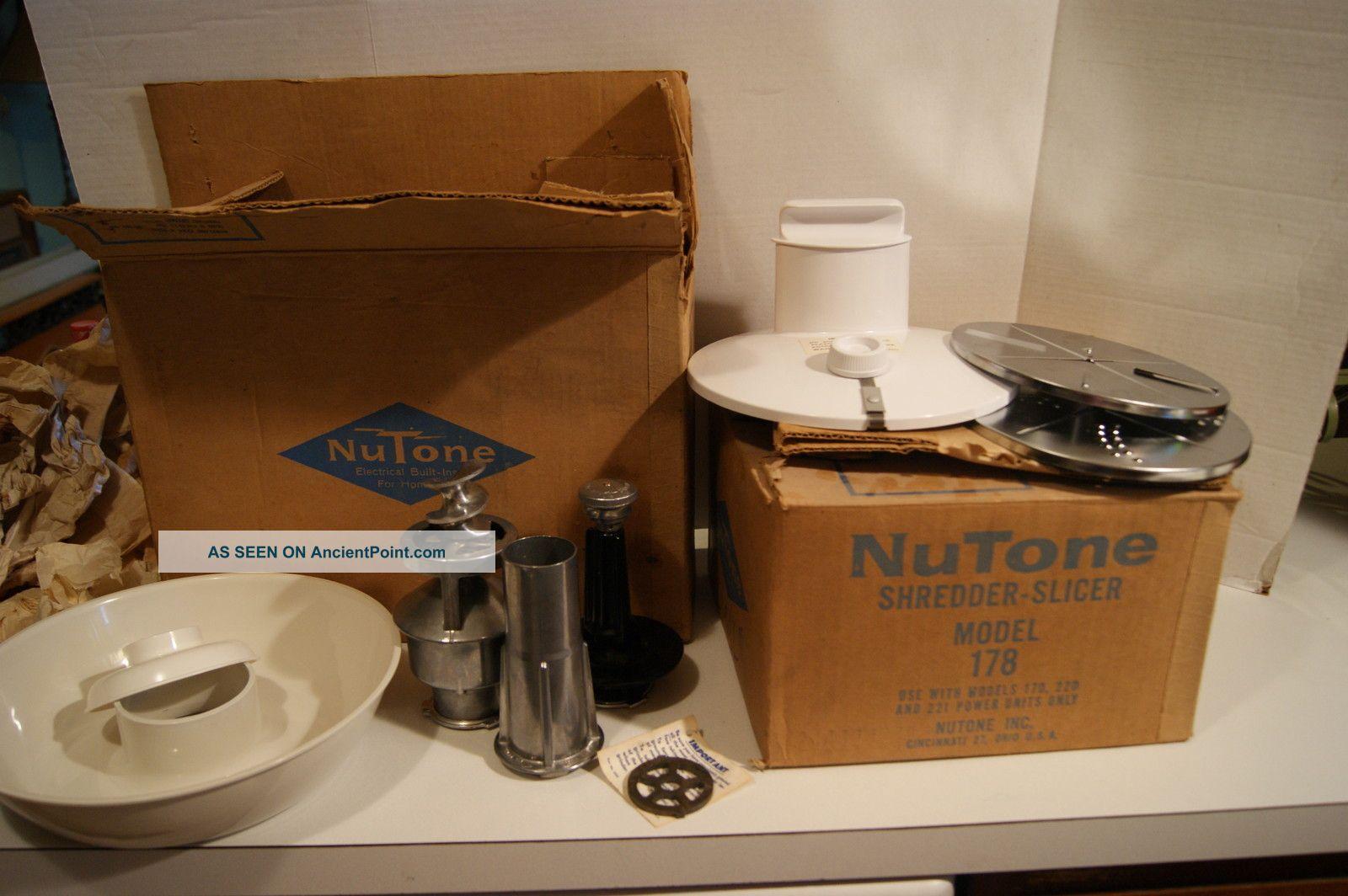 Vintage Nutone Meat Grinder And Shredder Slicer 1970 ' S? New/old Stock Meat Grinders photo