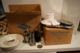 Vintage Nutone Meat Grinder And Shredder Slicer 1970 ' S? New/old Stock photo