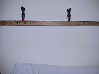 Riverside Stove & Furnace Advertising Yardstick Very Good Condition Rock Island photo