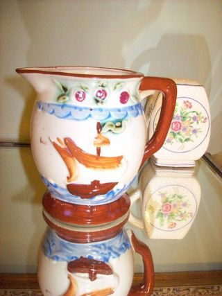 Vintage Creamer With Ship On It Estate Piece photo