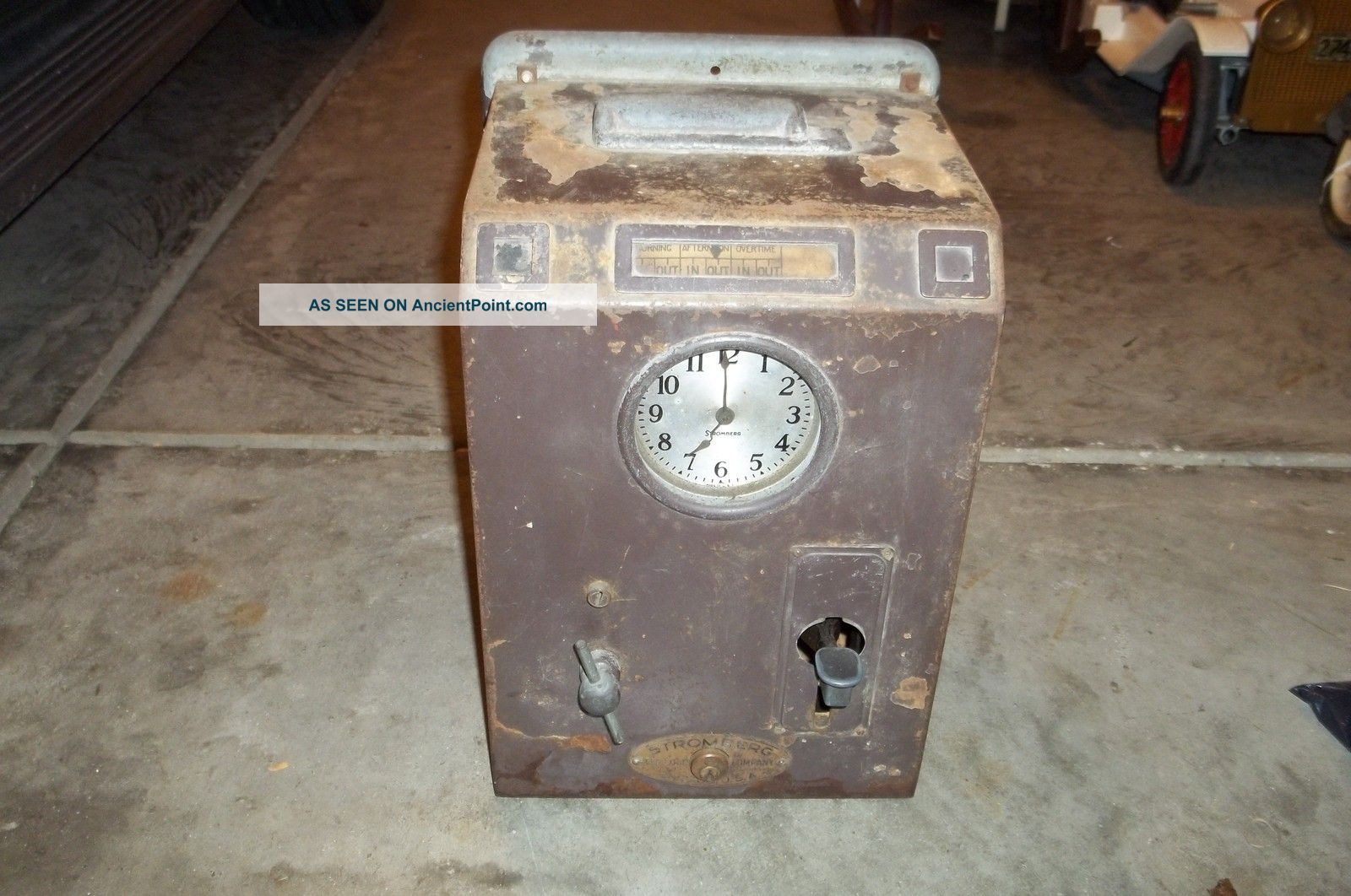Stromberg Electric Company Antique Time Clock,  Dated 1915 Rare Other photo
