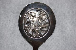 Sheffield England Acorn Silver Plated Serving Spoon photo