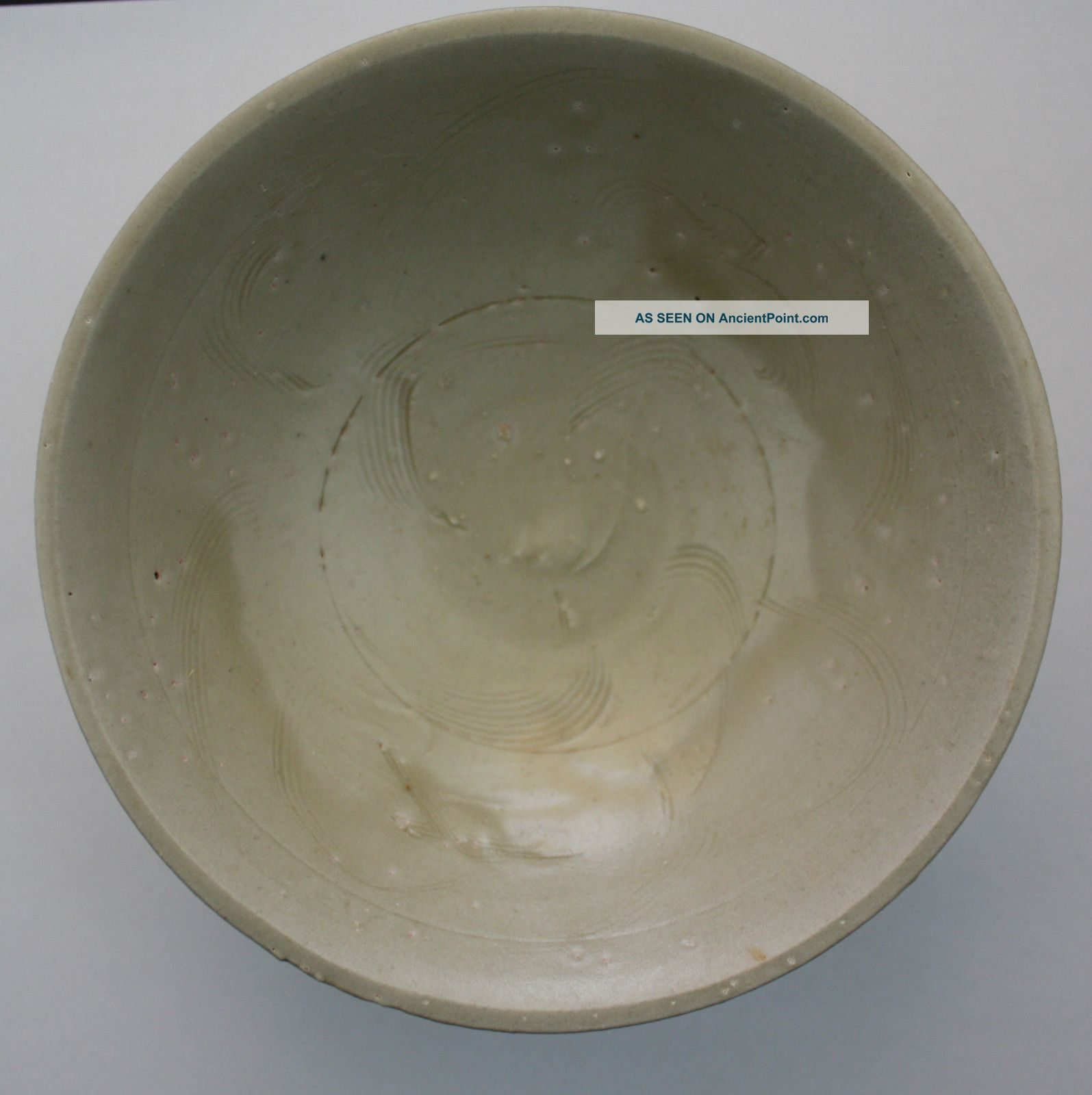 Song Dynasty Celadon Bowl With Combed Decoration Chinese photo