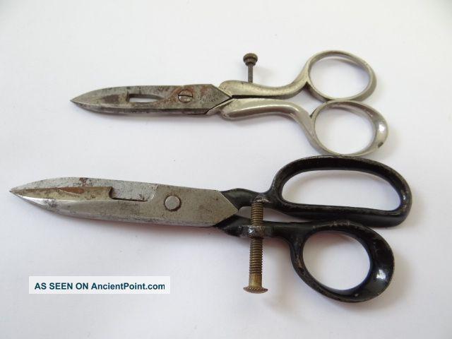 Civil War Era Bs & Co 1864 Graef Schmidt Solingen Button Sewing Scissors Shears Tools, Scissors & Measures photo