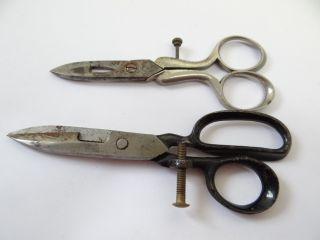 Civil War Era Bs & Co 1864 Graef Schmidt Solingen Button Sewing Scissors Shears photo
