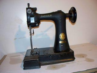 Antique Singer 91k6 Leader Gloves Sewing Machine photo
