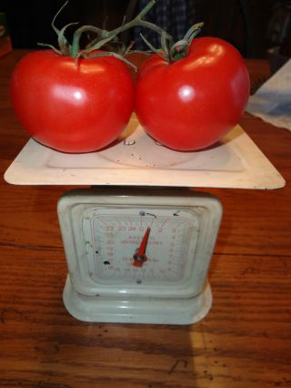 Vtg.  Antique? Metal Kitchen Veggie Scale photo