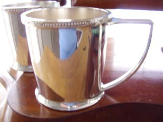 Vintage Silver Plated Tankard Christening Cup Mappin & Webb Circa 1960 photo