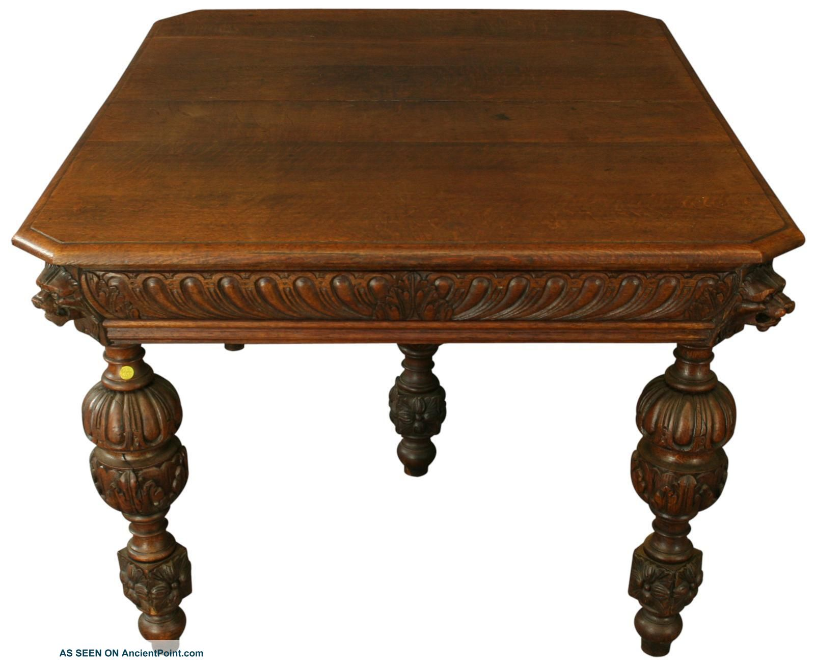 Dining Table Value Antique Oak Dining Table