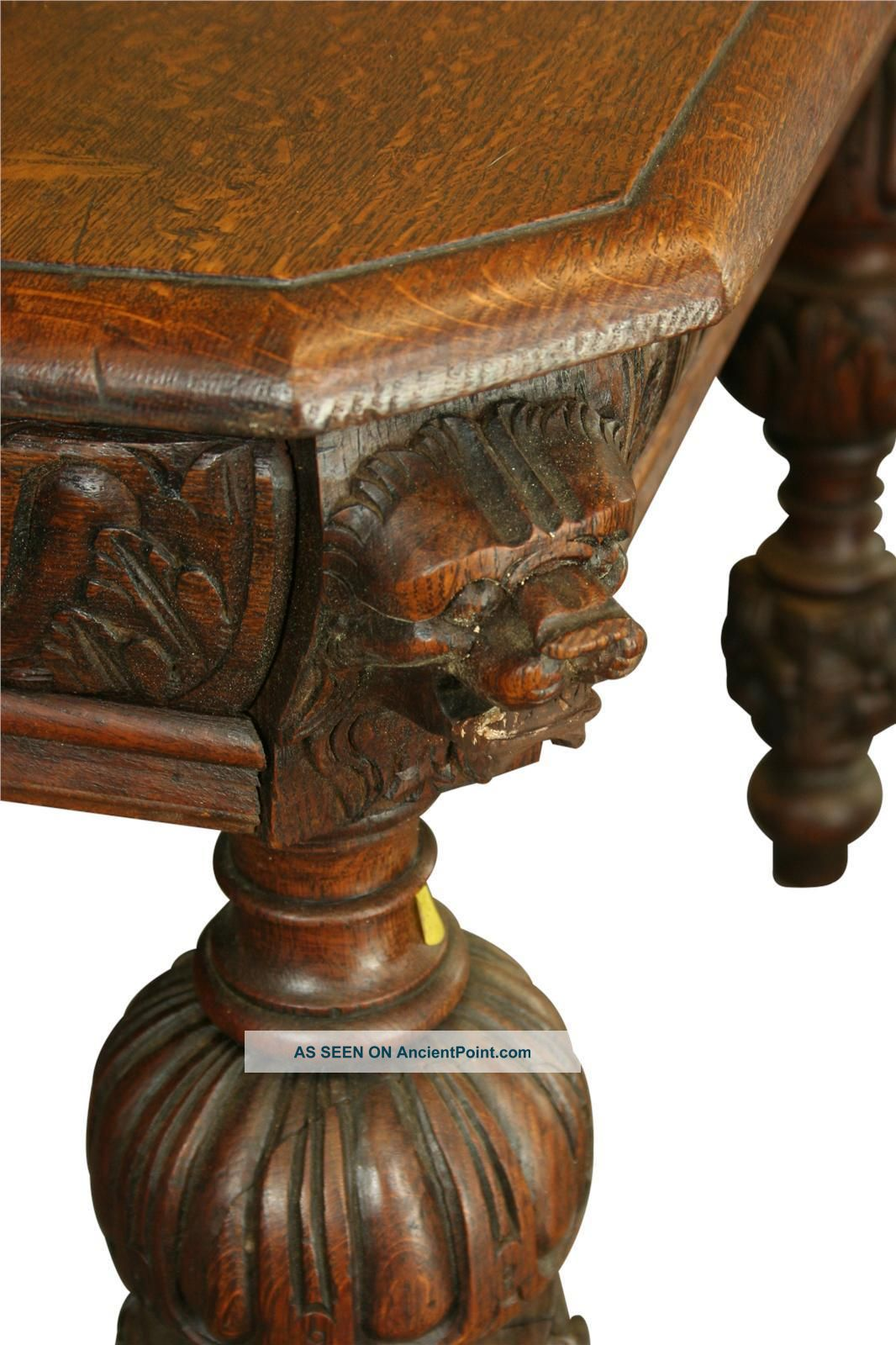 Wonderful image of Dining Table: Value Antique Oak Dining Table with #AE9B1D color and 1066x1600 pixels