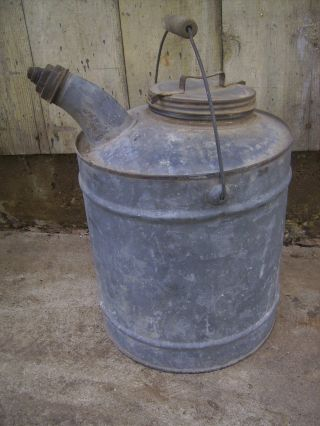 Vintage Grease / Oil - Spouted Bucket - Unmarked - Rustic Can photo