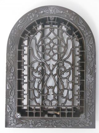 Springtime (8x12) Cast Iron Register Grate With Back 001 photo