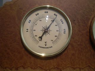 Australian Brown Mallee Burl Wall Weather Station (barometer,  Therm,  Hygrometer) photo