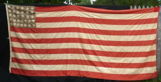Antique 32 Star Flag - Blood Stripe/small Canton photo
