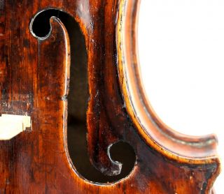 Very Old,  Antique,  Unlabeled Violin C.  1780 - Ready To Play photo