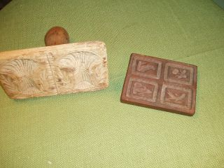 Antique Wooden Butter Stamps - photo