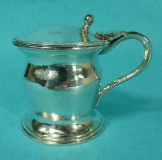 Rare Arts & Crafts Sterling Silver Mustard Pot Liner Omar Ramsden London 1930 photo