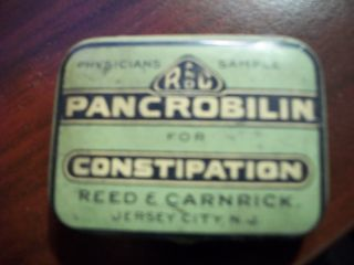 Turn Of The Century Physicians Sample Pancrobilin Tin photo