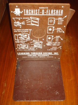 Antique Barnette Tachist - O - Flasher By Learning Through Seeing Inc.  Sunland Ca photo