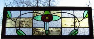 Stained Glass Window Transom Panel - Mackintosh Rose photo
