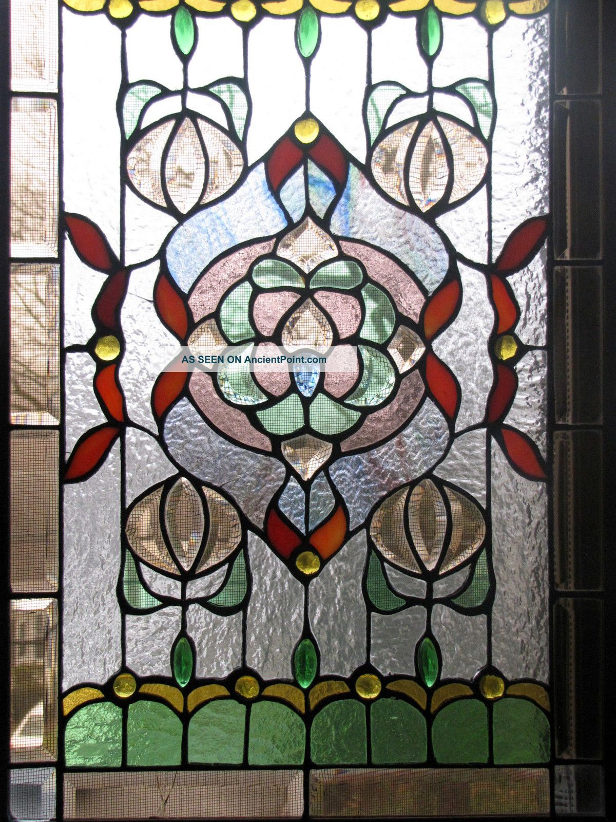 pin stained glass windows amp panels flower004 on pinterest
