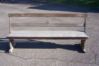 Rare Riverboat Bench Ca.  1820 - 1890 photo