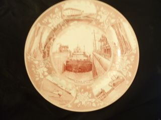 Jonroth Old English Staffordshire Ware Plate St.  Lawrence Seaway Power Project photo
