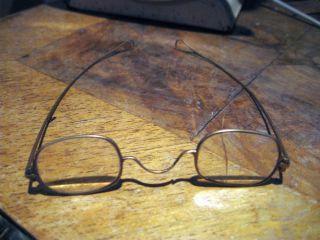 Antique Victorian 1840 Signed Grant Gold Eyeglasses Spectacles Optic Repair Rare photo