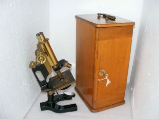 Bausch & Lomb Jug Handle Microscope,  Early 20th C. photo
