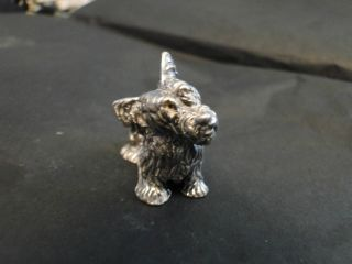 Miniature Scotty Dog Silver 800 Made In Circa 1960 - Italian photo