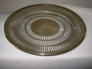 Antique Vintage Reticulated Sheffield Silver Sweet Plate Brs In Blocks 2366 photo