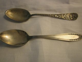 Two Beautifully Design Demi Or Sugar Spoons/rogers A1 & Oneida Community photo