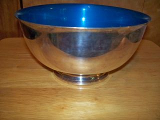 Reed & Barton Silver Plate & Blue Enamel Bowl 105,  9