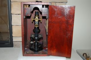 Antique Spencer Lens Co.  Buffalo Ny Early 1900 ' S Microscope Model 36h With Case photo