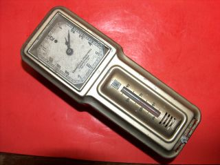 Vtg Old M - H - R Heat Regulator Chronotherm Art Deco Electric Clock Thermostat photo