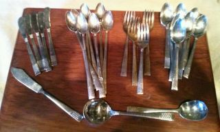 1946 King Edwards Silverplate Cavalcade Pattern - Salad Forks (4) photo