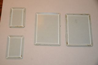 Antique Beveled Glass From Royal 10 Typewriter Heavy Glass For Steam Punk 4 Pc photo