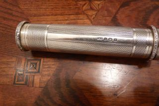 A Rare Solid Silver Gentleman ' S Suit/pocket Torch 1914. . .