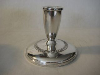 Old Vintage Fisher Sterling Silver Weighted Candle Holder,  11.  6 Oz Weight photo