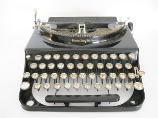1930s Remington Model No.  3 Portable Vintage Typewriter Antique Red Tab Key photo