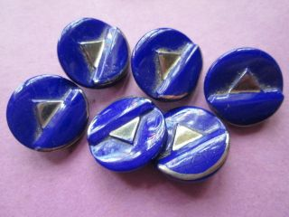 Antique Blue Glass Buttons For Your Project photo