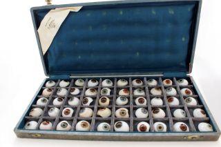 50 Prosthetic Human Eyes Finest German Jena Glass Jenaer Glas Ca 1936 Civil War2 photo