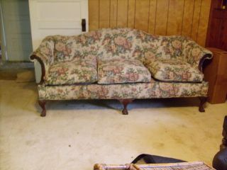 Vintage Finchleigh Camel Back Sofa W/ball - N - Claw Feet photo