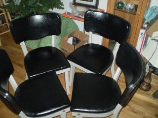 Emes Era Blk Solid Wood & Laminated Chairs With Wide Lrg Vinyl Back & Seats photo