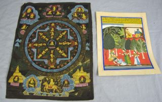 2 Antique Asian/indian Paintings Cloth/paper photo
