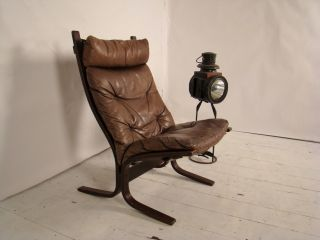 Scandinavian 1970s Ingmar Relling Siesta Rosewood & Leather Easy Chair. photo