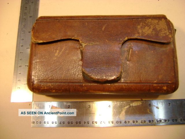 Travelling Civil War Apothecary With Test Tupes Leather Case And Meds Other photo