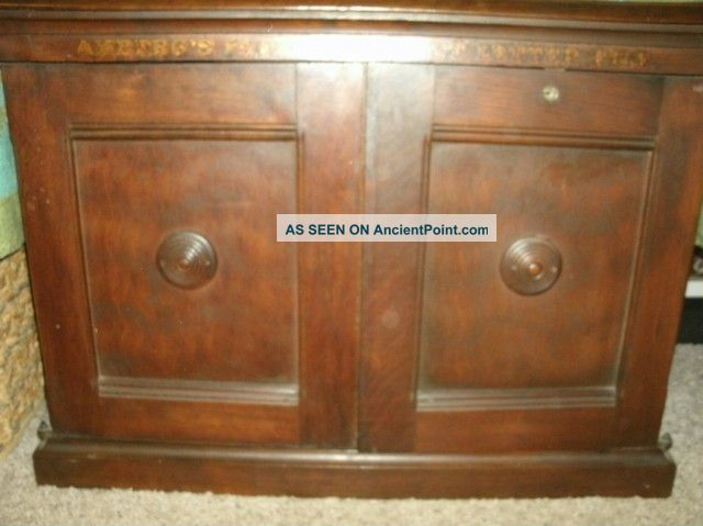 Antique Amberg ' S Cabinet Letter File Amberg 1876 Patent 1800-1899 photo